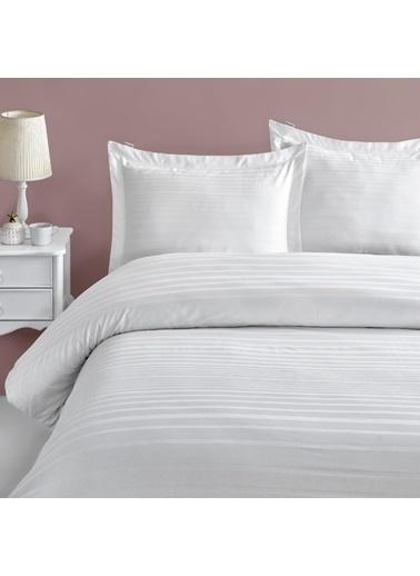 Marie Claire Otel Serisi-Tek Kişilik Nevresım Parıs Pamuk Saten 160X220 Cm Beyaz Beyaz